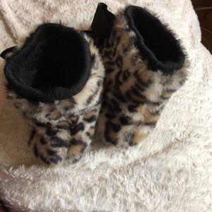 kate spade Shoes - Kate Spade Cheetah Bootie Slippers
